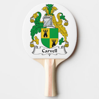 Carvell Family Crest Ping-Pong Paddle