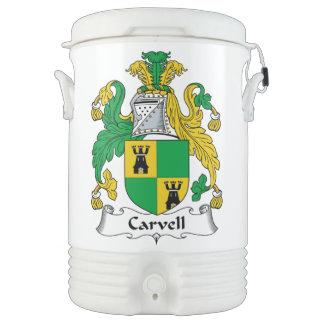 Carvell Family Crest Igloo Beverage Dispenser