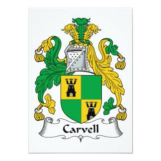 "Carvell Family Crest 5"" X 7"" Invitation Card"