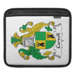 Carvell Family Crest iPad Sleeves