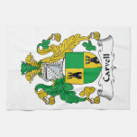 Carvell Family Crest Kitchen Towel