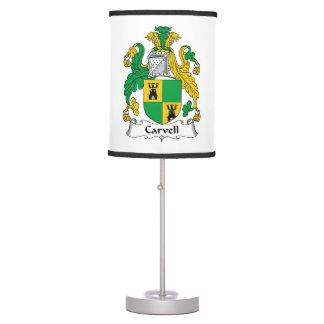 Carvell Family Crest Desk Lamps