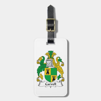 Carvell Family Crest Travel Bag Tags
