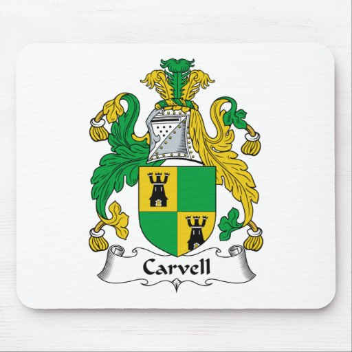 Carvell Family Crest Mouse Mats