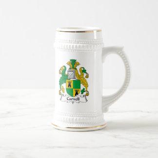 Carvell Family Crest Mugs