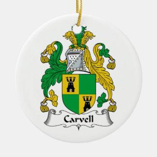 Carvell Family Crest Ornament