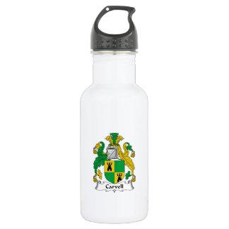 Carvell Family Crest 18oz Water Bottle