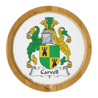Carvell Family Crest Round Cheeseboard