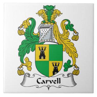 Carvell Family Crest Tile