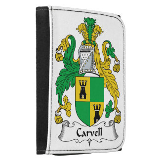 Carvell Family Crest Leather Trifold Wallets