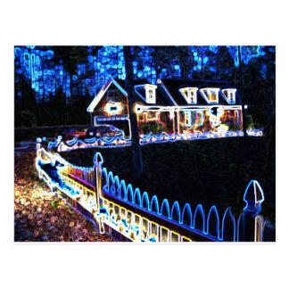 Carver Christmas House Postcard