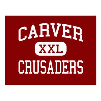 Carver - Crusaders - High - Carver Massachusetts Postcard