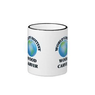 Carver de madera más caliente del mundo taza de dos colores