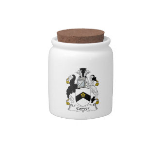 Carver Family Crest Candy Jar