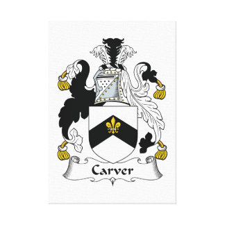 Carver Family Crest Gallery Wrap Canvas