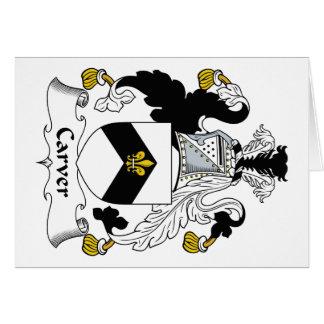 Carver Family Crest Cards