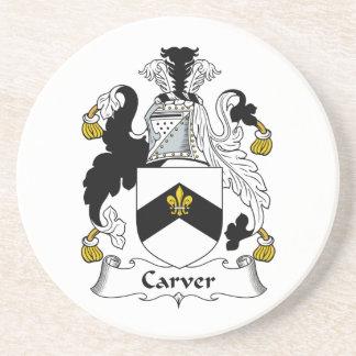 Carver Family Crest Beverage Coaster