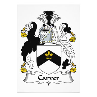 Carver Family Crest Custom Invites