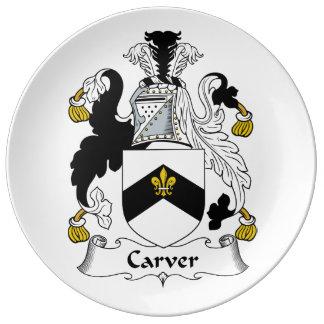 Carver Family Crest Porcelain Plate