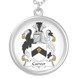 Carver Family Crest Personalized Necklace