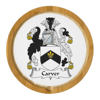 Carver Family Crest Round Cheeseboard