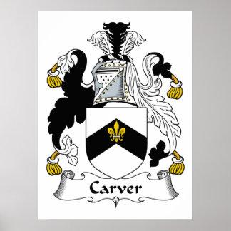 Carver Family Crest Poster