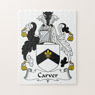 Carver Family Crest Jigsaw Puzzles