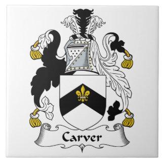 Carver Family Crest Tiles