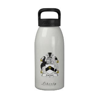Carver Family Crest Water Bottle