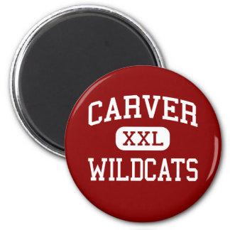 Carver - gatos monteses - joven - Spartanburg Imán Redondo 5 Cm