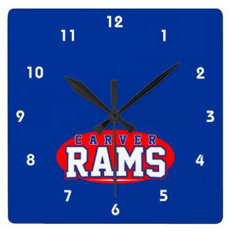 Carver High School; Rams Square Wall Clock