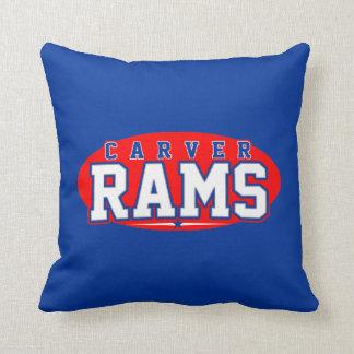 Carver High School; Rams Throw Pillow