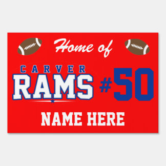 Carver High School; Rams Yard Sign