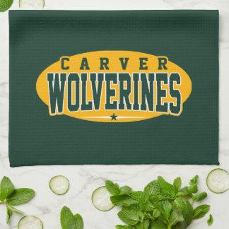 Carver High School; Wolverines Hand Towel