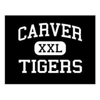 Carver - Tigers - High School - Columbus Georgia Postcard