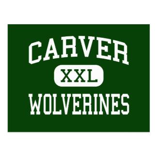 Carver - Wolverines - High - Montgomery Alabama Postcard