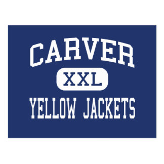 Carver - Yellow Jackets - High - Winston Salem Postcard