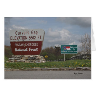 Carvers Gap Pisgah-Cherokee National Forest TN NC Stationery Note Card