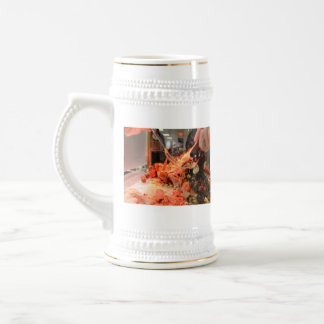 Carving a Turkey Beer Stein