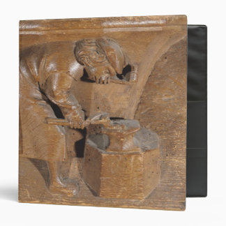 Carving depicting a coppersmith binders