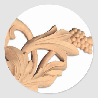 Carving Grapes Classic Round Sticker