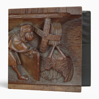 Carving of a miller, from a choir stall vinyl binder