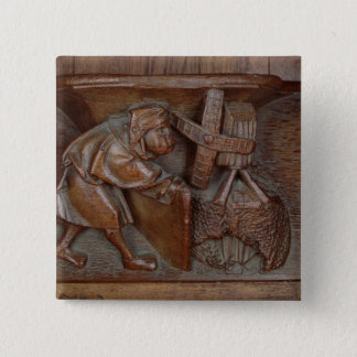 Carving of a miller, from a choir stall button