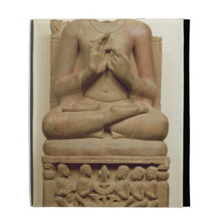 Carving of Buddha in the attitude of preaching a s iPad Folio Covers
