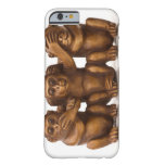 Carving of three wooden monkeys iPhone 6 case