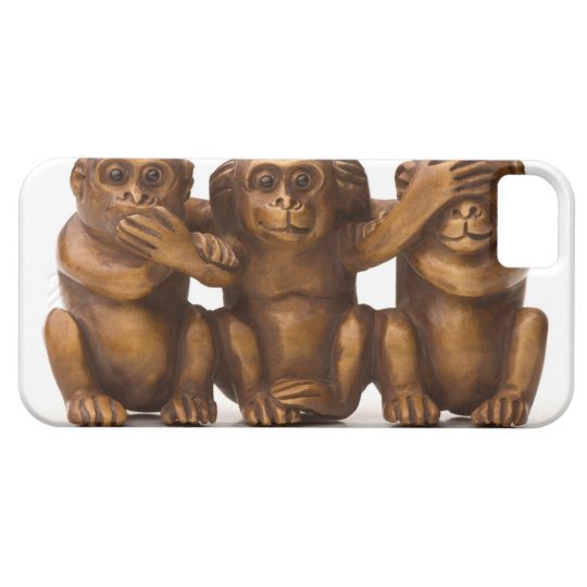 Carving of three wooden monkeys iPhone SE/5/5s case