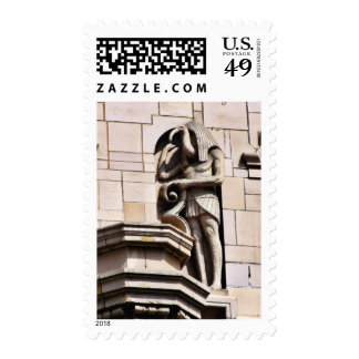 Carvings Near The Grand Central Market In La Postage Stamps