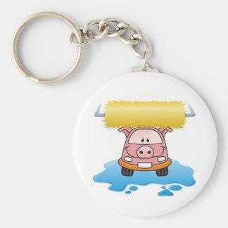 Carwash Basic Round Button Keychain