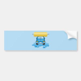 Carwash cartoon bumper sticker