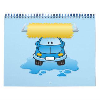 Carwash cartoon calendar
